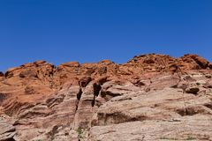 Red Rock Cliffs at Red Rock Canyon, Nevada Royalty Free Stock Photos