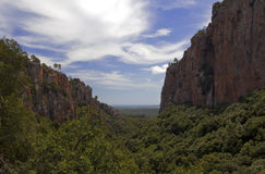 Red Rock Cliffs of The Gorges DBlavet, The Var Stock Photography