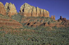Red Rock Cliffs of Sedona, Arizona stock photo