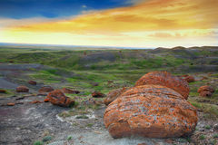 Red Rock Coulee Evening Royalty Free Stock Image