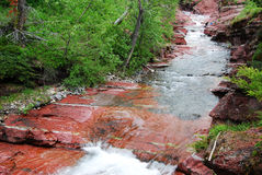 Red rock creek and canyon Stock Photo