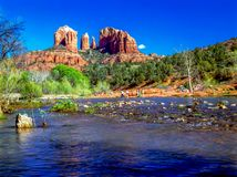 Red Rock Crossing royalty free stock images