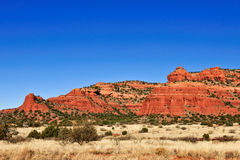 Red rock in the desert Stock Photos
