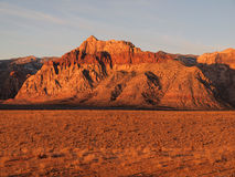 Red Rock Desert Nevada. Warm sunrise light at Nevada's Red Rock Recreation area near Las Vegas Stock Photography