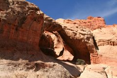 Red Rock Double Arch 3 Stock Photo