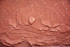 Red Rock Edge – Natural Texture. Red rock edge – An ancient wall texture Royalty Free Stock Photo