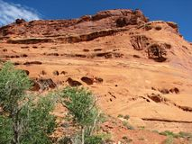 Red rock formation Royalty Free Stock Images