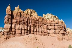 Red rock formation. In new mexico Royalty Free Stock Image