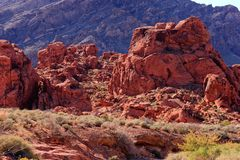 Red Rock Formation Royalty Free Stock Image
