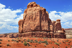 Red Rock Formation Canyon Arches National Park Moab Utah Stock Images