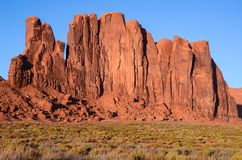 Tall red rock formations and cliffs in the American southwest royalty free stock photography