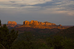 Red rock formation in Sedona, Arizona. Royalty Free Stock Images