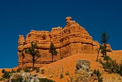 Red rock formation in utah Royalty Free Stock Images