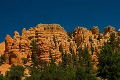 Red rock formation in utah Stock Image
