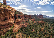 Red rock formations at at Boynton Canyon Trail in Sedona, USA Stock Photography