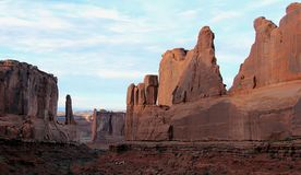 Red rock formations in Canyonlands National Park, Utah royalty free stock images
