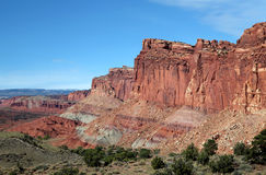 Red Rock Formations at Capital Reef National Park Stock Image