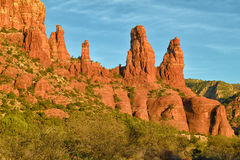 Red Rock Formations Royalty Free Stock Images