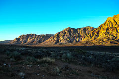 Red Rock Formations. Las Vegas, NV, USA - November 5, 2015: Rock formations and vista found at Red Rock Canyon National Conservation Area near Las Vegas, Nevada royalty free stock photo