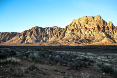 Red Rock Formations. Las Vegas, NV, USA - November 5, 2015: Rock formations and vista found at Red Rock Canyon National Conservation Area near Las Vegas, Nevada stock photography