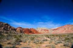 Red Rock Formations. Las Vegas, NV, USA - November 5, 2015: Rock formations and vista found at Red Rock Canyon National Conservation Area near Las Vegas, Nevada royalty free stock photography
