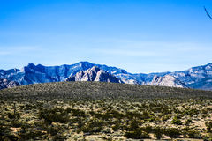 Red Rock Formations. Las Vegas, NV, USA - November 5, 2015: Rock formations and vista found at Red Rock Canyon National Conservation Area near Las Vegas, Nevada stock photos