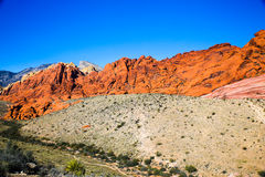 Red Rock Formations. Las Vegas, NV, USA - November 5, 2015: Rock formations and vista found at Red Rock Canyon National Conservation Area near Las Vegas, Nevada royalty free stock photos