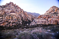 Red Rock Formations. Las Vegas, NV, USA - November 5, 2015: Rock formations and vista found at Red Rock Canyon National Conservation Area near Las Vegas, Nevada stock image