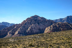 Red Rock Formations. Las Vegas, NV, USA - November 5, 2015: Rock formations and vista found at Red Rock Canyon National Conservation Area near Las Vegas, Nevada royalty free stock images