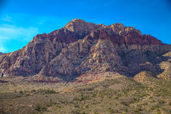 Red Rock Formations. Las Vegas, NV, USA - November 5, 2015: Rock formations and vista found at Red Rock Canyon National Conservation Area near Las Vegas, Nevada royalty free stock image