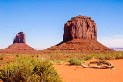 Red rock formations in Monument Valley Royalty Free Stock Image