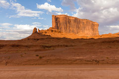 Red rock formations in Monument Valley, evening Royalty Free Stock Image
