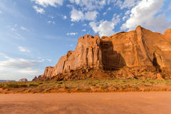 Red rock formations in Monument Valley, evening Stock Photos