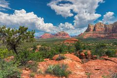 Red rock formations at Sedona, Arizona Stock Image