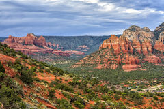 Red rock formations in Sedona, USA Royalty Free Stock Photography