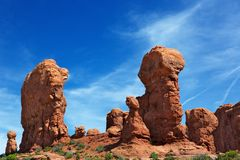 Red Rock Formations sky c Royalty Free Stock Photos