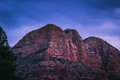 Red Rock Formations After Sunset stock photography