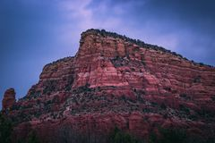 Red Rock Formations After Sunset royalty free stock photo