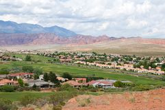 Red rock homes Stock Photos