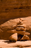 Red rock hoodoo in arches national park Royalty Free Stock Images