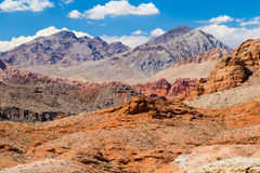 Red Rock Landscape with blue sky, Valley of Fire State Park, Nev Stock Photos