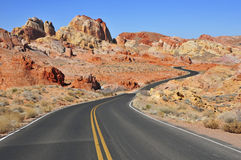 Red Rock Landscape, Southwest USA. Driving in the Stunning Red Rock Landscape, Southwest USA Stock Image