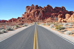 Red Rock Landscape, Southwest USA. Driving in the Stunning Red Rock Landscape, Southwest USA Royalty Free Stock Photos