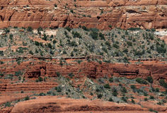 Red Rock layers Royalty Free Stock Photography