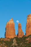 Red Rock Moonrise Stock Images