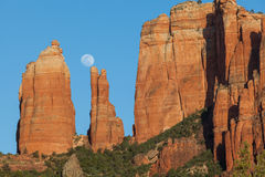 Red Rock Moonrise Royalty Free Stock Photo
