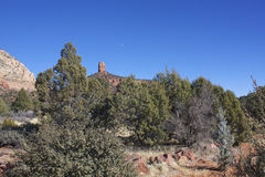 Red Rock Moonrise, Sedona Stock Photography