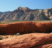 Red rock mountain Stock Image