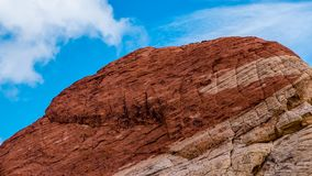 Red Rock Mountain with blue background sky Stock Photo