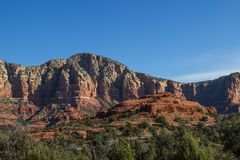 Red Rock Mountain Formations With Layers Royalty Free Stock Photo